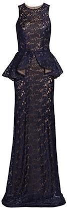 Silvia Tcherassi Marina Sleeveless Peplum Gown