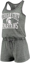 Unbranded Women's Concepts Sport Heathered Green Michigan State Spartans Squad Romper