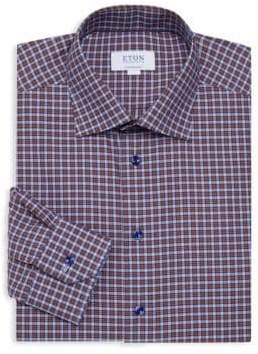 Eton Contemporary Fit Plaid Dress Shirt