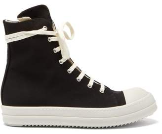 Rick Owens High-top Canvas Trainers - Mens - Black White