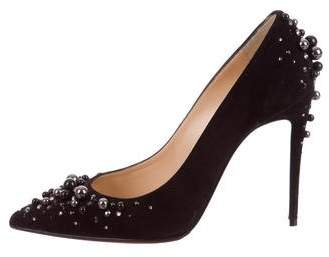 Christian Louboutin Embellished Pointed-Toe Pumps