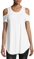 Vimmia Serenity Cold-Shoulder Tee, White