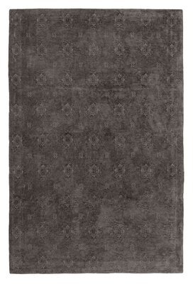 """French Connection Jaylen Jacquard Dark Gray Area Rug Rug Size: Rectangle 2'3"""" x 3'9"""""""