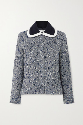 Victoria Victoria Beckham Wool-blend Boucle Jacket - Navy