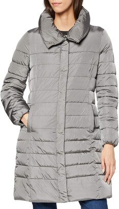 Geox W AIRELL Long padded coat Grey UK 8