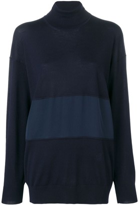Chloé turtle-neck panelled sweater