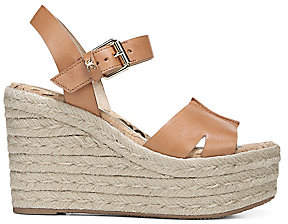 Sam Edelman Women's Maura Leather Platform Wedge Espadrilles