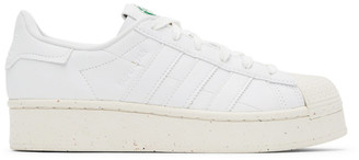 adidas White Clean Classics Bold Superstar Sneakers