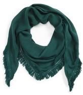 David & Young Women's Fringe Triangle Scarf