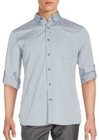 John Varvatos Cotton Roll-Up Sleeve Shirt