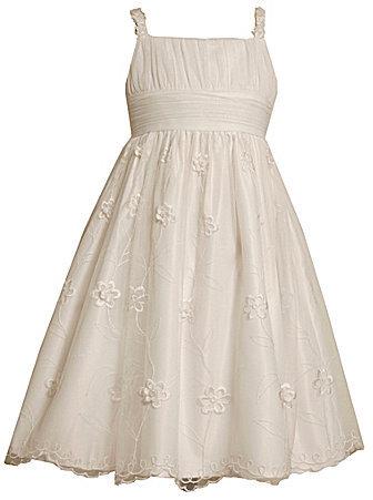 Bonnie Jean 7-16 Embroidered Emma Dress