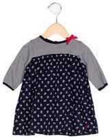 Petit Bateau Girls' Nautical Long Sleeve Dress