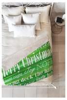 "Deny Designs Green Novelty Sophia Buddenhagen Christmas Collection Sherpa Throw Blanket (50""X60"