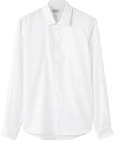 Jigsaw Pique Cotton Slim Fit Dress Shirt, White