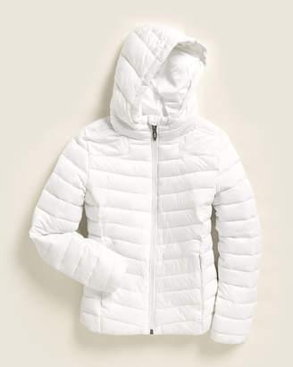 Spyder Girls 7-16) White Hooded Full-Zip Jacket