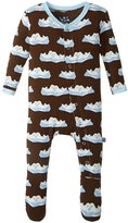 Kickee Pants Print Footie (Baby) - Bark Seals - 18-24 Months