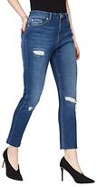 Miss Selfridge Raw Hem Straight Leg Jeans