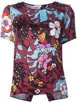 Tome floral print T-shirt - women - Silk - XS