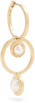 Delfina Delettrez Pearl & yellow-gold hoop earring