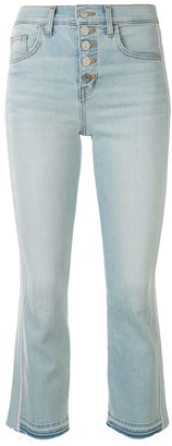 Veronica Beard High-Rise Cropped Jeans