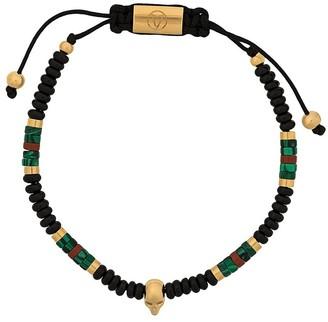 Northskull malachite atticus macrame bracelet