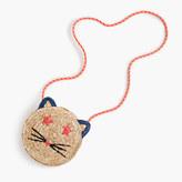 J.Crew Girls' woven straw cat bag