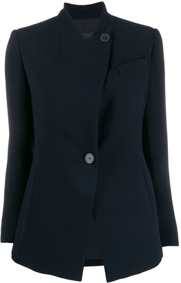 Emporio Armani slim-fit collarless blazer