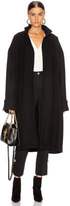 Alexandre Vauthier Melton Coat in Black | FWRD