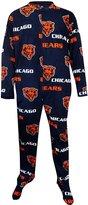 Concept Sports Chicago Bears Guys Super Soft Fleece Onesie Footie Pajaa foren (ediu)