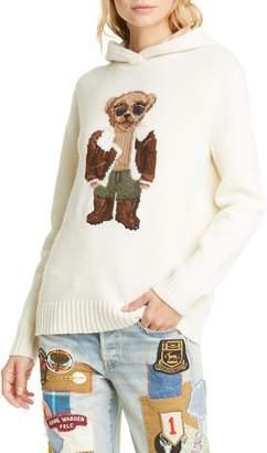 Polo Ralph Lauren Aviator Bear Hooded Wool Sweater
