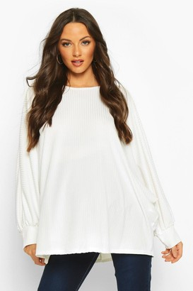 boohoo Maternity Batwing Rib Knit Sweater
