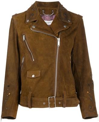Golden Goose Studded Suede Biker Jacket