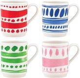 Kate Spade All in Good Taste Pretty Pantry Dinnerware Stacking Mug Set - White