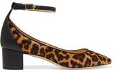 Sam Edelman Lola Leather-trimmed Leopard-print Calf Hair Pumps - Leopard print
