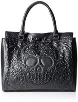 Loungefly Lattice Skull Tote Shoulder Bag,One Size