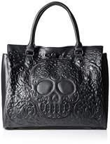 Loungefly Lattice Skull Tote Shoulder Bag