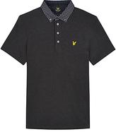 Lyle & Scott Woven Collar Polo Shirt, Charcoal