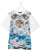Roberto Cavalli nautical tiger print t-shirt - kids - Cotton/Elastodiene - 4 yrs