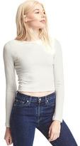 Gap Softspun knit long sleeve crop top