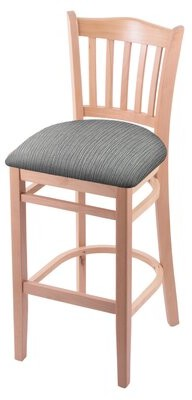 "Holland Bar Stool Bar & Counter Stool Color: Natural, Upholstery: Graph Alpine, Seat Height: Bar Stool (30"" Seat Height)"
