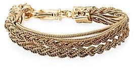Emanuele Bicocchi Men's 24K Gold-Plated Sterling Silver Braided Tiered Bracelet