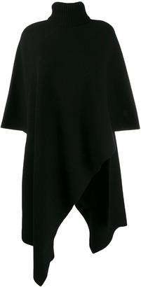 Chloé cashmere roll-neck poncho jumper