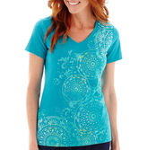 JCPenney Made For Life Short-Sleeve Medallion Graphic T-Shirt