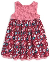 Pumpkin Patch Floral Print Sleeveless Dress