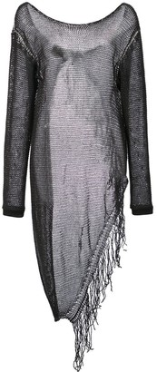Lost & Found Ria Dunn Mesh Knit Fringe Pullover