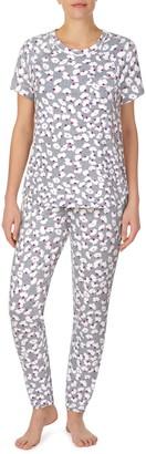 Kate Spade Print Brushed Jersey Pajamas