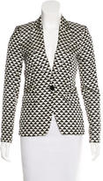 By Malene Birger Silk Geometric Print Blazer