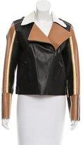 Fendi Colorblock Leather Jacket