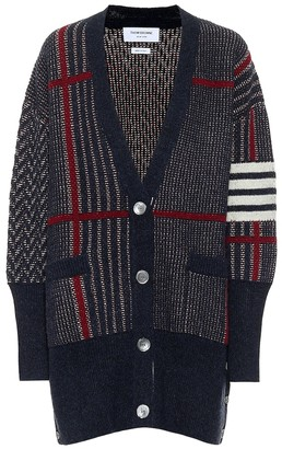 Thom Browne Checked wool cardigan