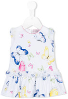 MonnaLisa butterfly print dress - kids - Cotton/Spandex/Elastane - 6 mth